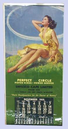 10: 1959 AUTOMOBILE PARTS ADVERTISING CALENDAR