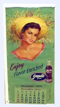 11: GRAPETTE SODA ADVERTISING CALENDER 1956