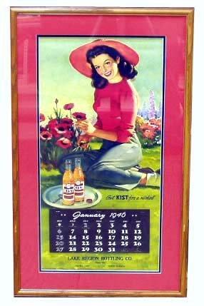 13: KIST SODA 1946 ADVERTISING CALENDAR
