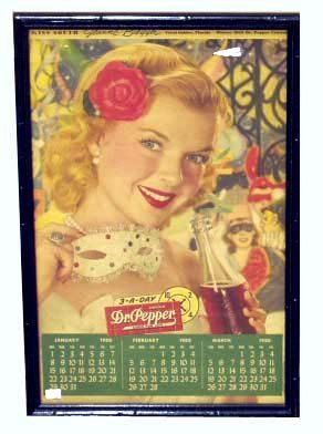 16: DR. PEPPER CALENDAR PAGE - 1950, MISS SOUTH
