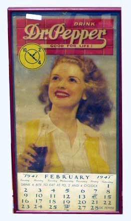 17: DR. PEPPER ADVERTISING CALENDAR - 1941