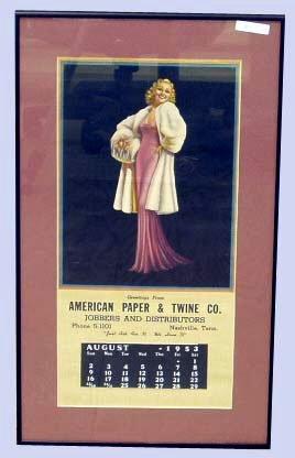 19: PIN-UP ADVERTISING CALENDAR 1953