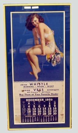 20: WHISTLE SODA CALENDAR 1950 TWINKLE TOES