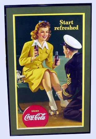 23: COCA-COLA ADVERTISING CARDBOARD 1943