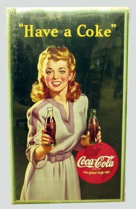 24: COCA-COLA ADVERTISING CARDBOARD SIGN 1943