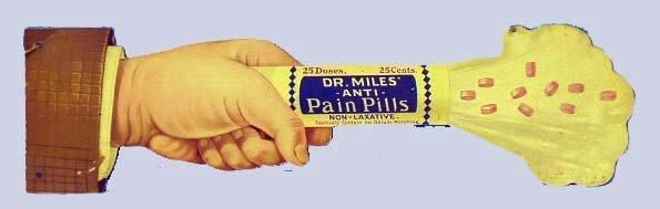176: DR. MILES ANTI-PAIN PILLS ADVERTISING STRING HANGE