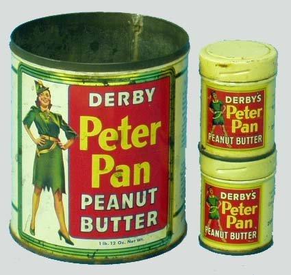 260: PETER PAN PEANUT BUTTER TIN LITHO CANS (3)