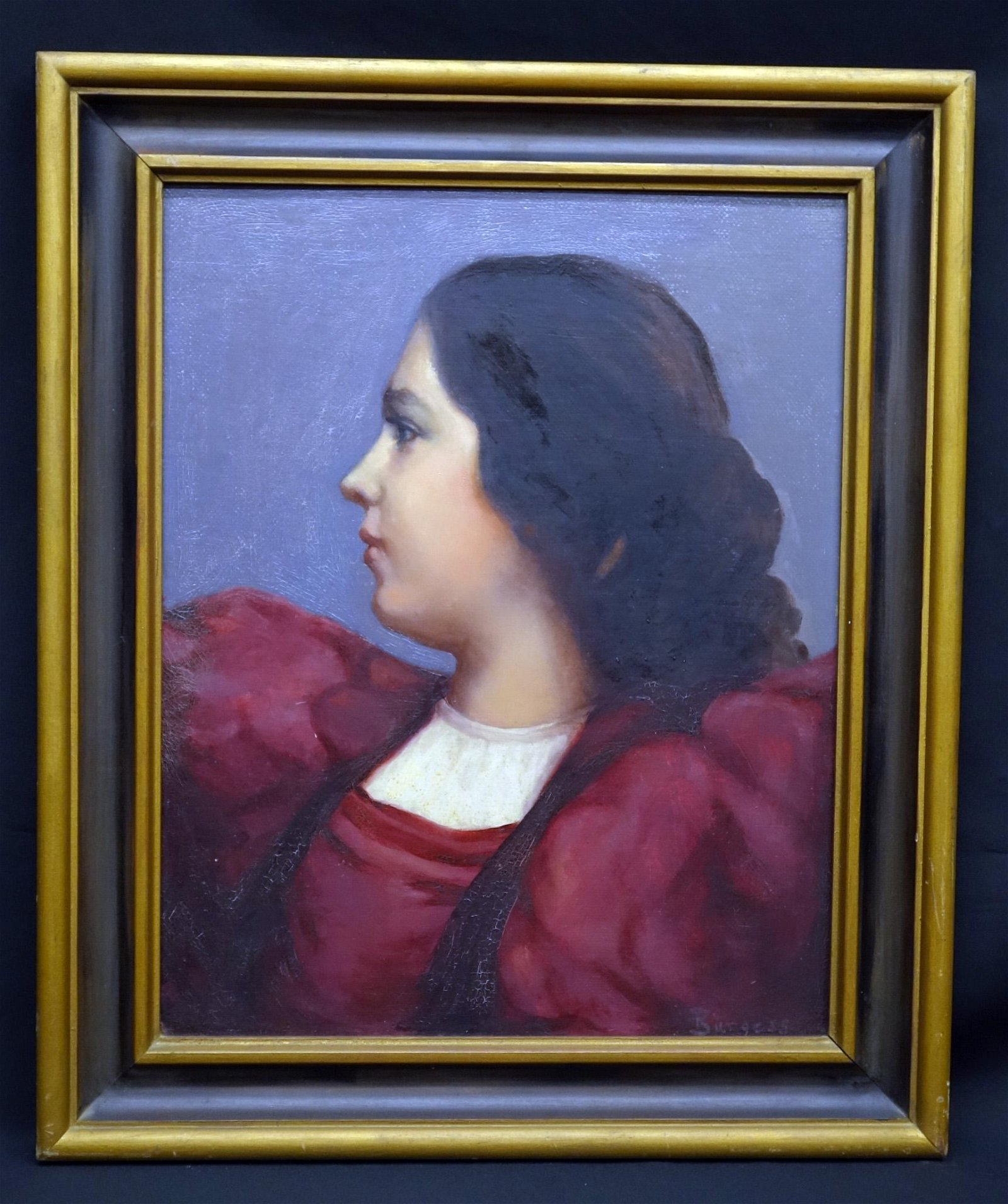 PORTRAIT PAINTING OF YOUNG WOMAN