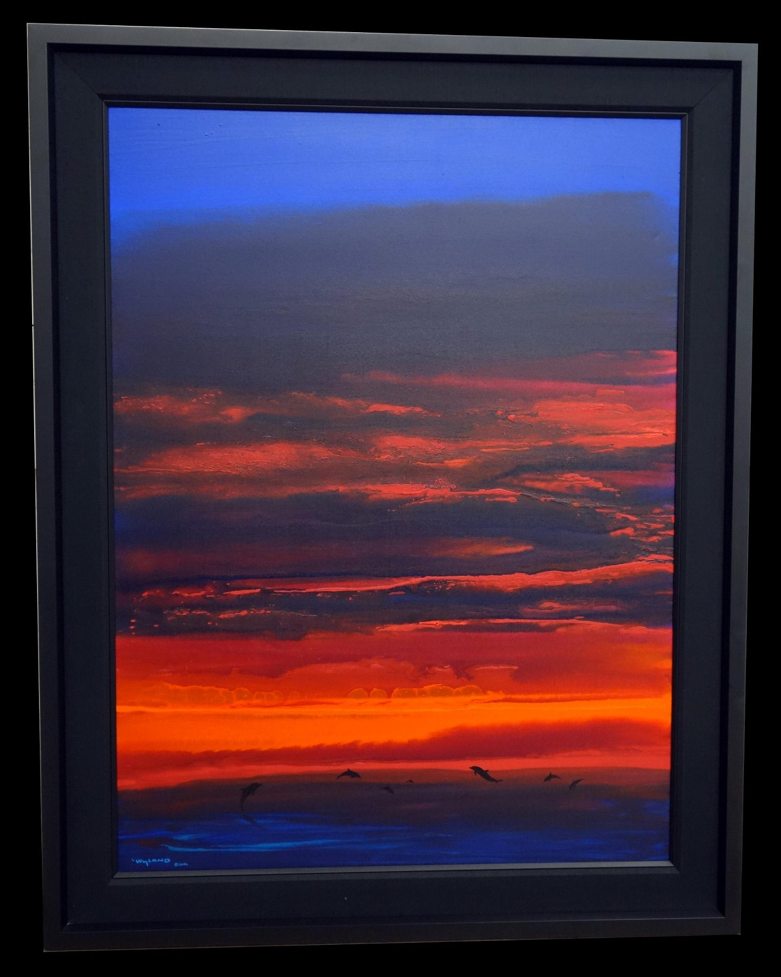 WYLAND SUNSET WITH DOLPHIN GICLEE