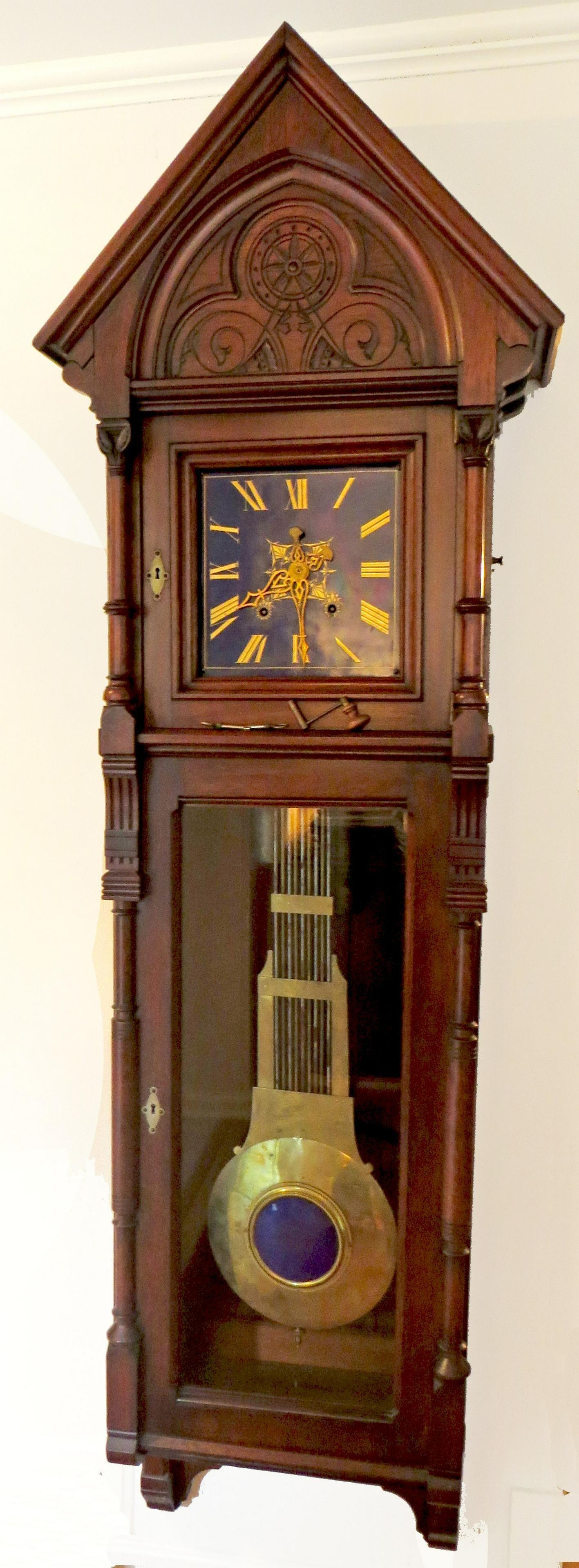 LARGE VICTORIAN REGULATOR CLOCK