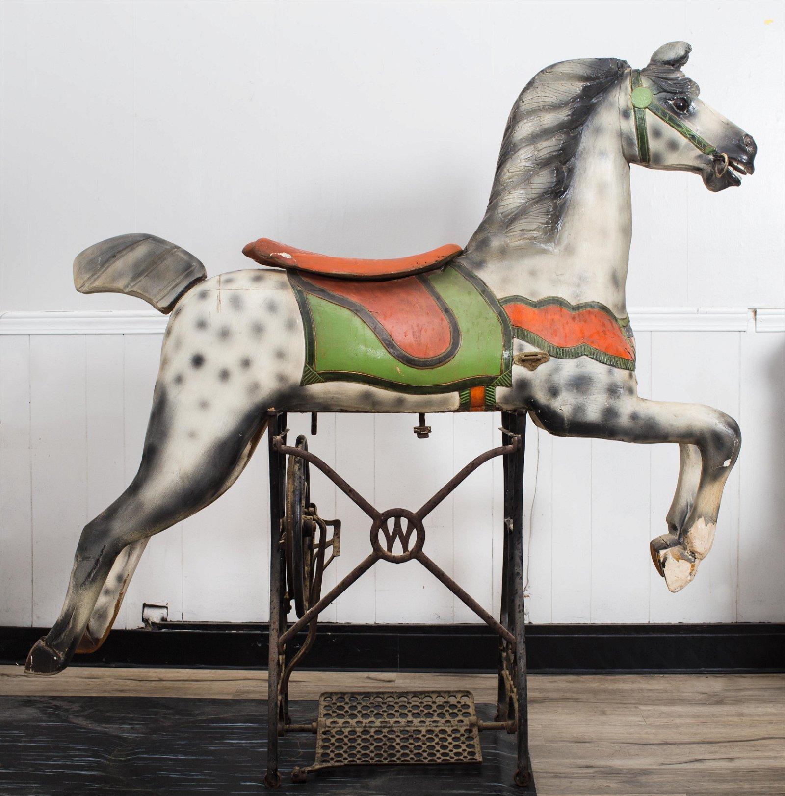 A. HERSCHEL JUMPER CAROUSEL HORSE
