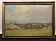 LIONEL EDWARDS FOX HUNTING PAINTING