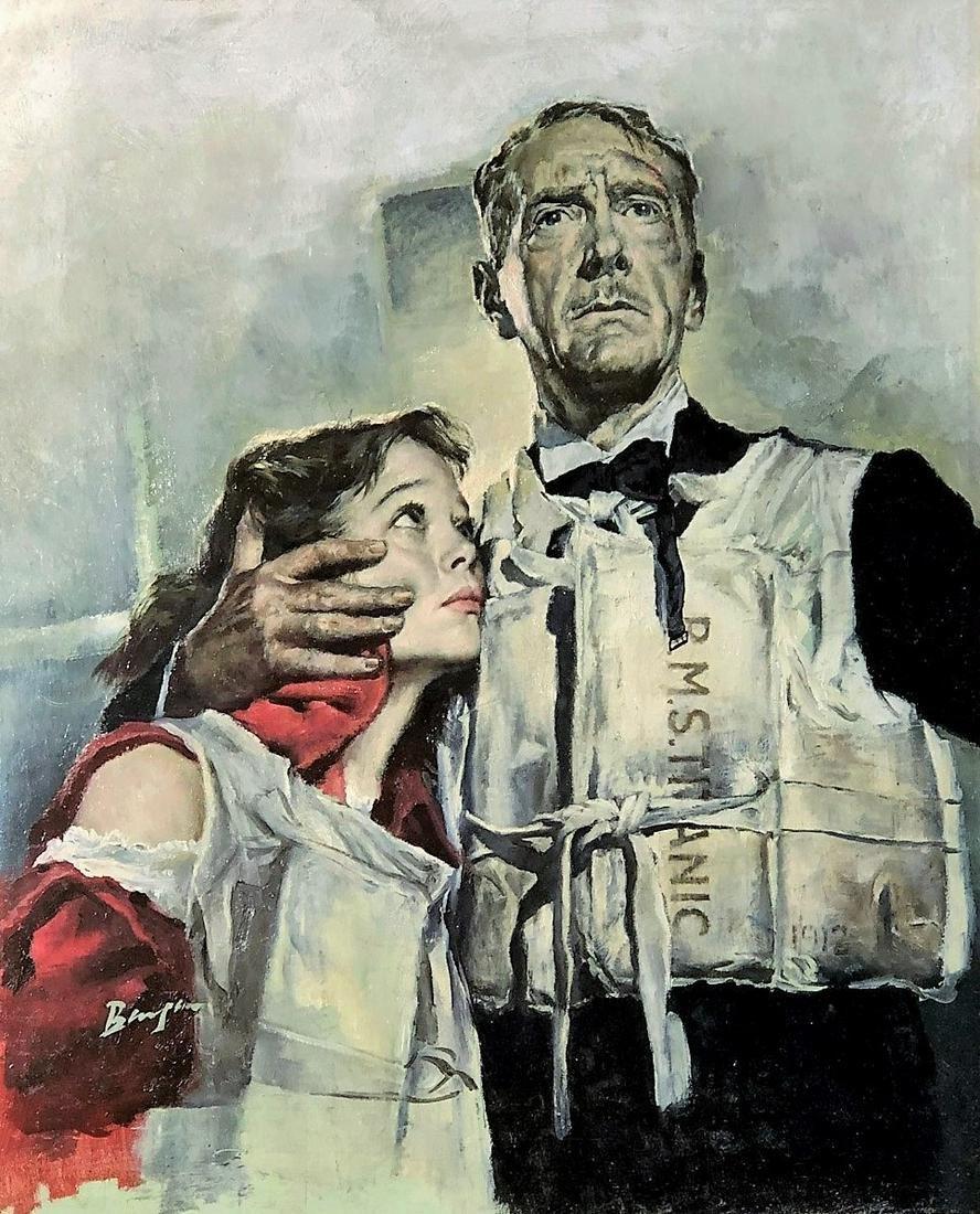 CHARLES BINGER TITANIC ILLUSTRATION 1956