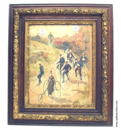 5: HY SANDHAM VICTORIAN BICYCLE CHROMOLITHO