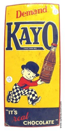12: KAYO CHOCOLATE DRINK TIN SIGN