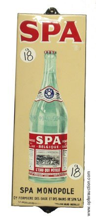 18: SPA SODA WATER PORCELAIN SIGN