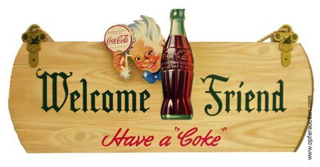 23: COCA-COLA SPRITE BOY LITHO CARDBOARD SIGN