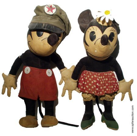 47: CLARK MICKEY & MINNIE CLOTH FIGURES