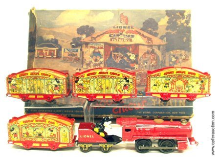 223: LIONEL MICKEY MOUSE CIRCUS TRAIN - ORIGINAL BOX