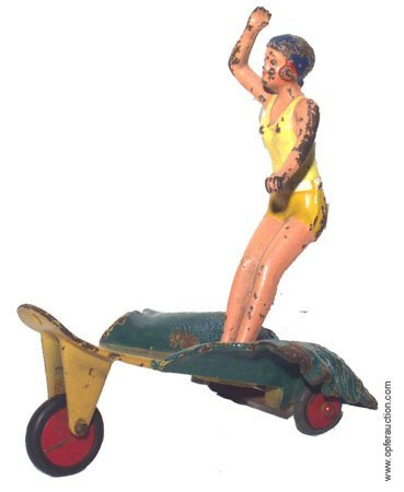 288: HUBLEY SURFER GIRL #1889 - CAST IRON