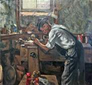 """""""TOY MAKER"""" ILLUSTRATION PAINTING"""