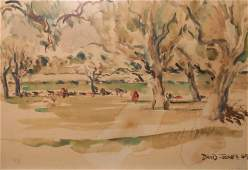 LANDSCAPE WATERCOLOR BY DAVID JONES