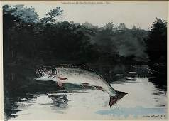 WINSLOW HOMER PRINT THE LEAPING TROUT