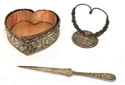 REPOUSSE STERLING DRESSER ITEMS