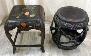 CHINOISERIE TABOURETTES (2)