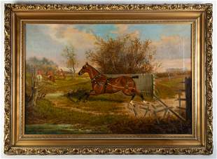 W (A)(H)(M) CLARK FOX HUNTING PAINTING