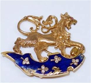 UNMARKED GOLD LION PIN