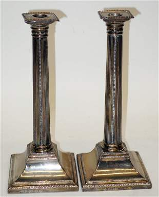 PAIR OF ENGLISH STERLING CANDLESTICKS