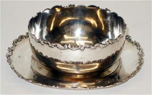 WHITING STERLING BOWL & UNDERPLATE
