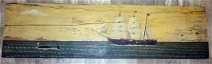 FOLK ART SAILING SHIP PAINTING