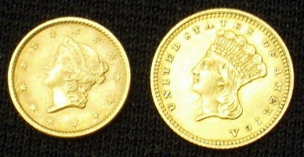 20: (2) GOLD 1 DOLLAR COINS