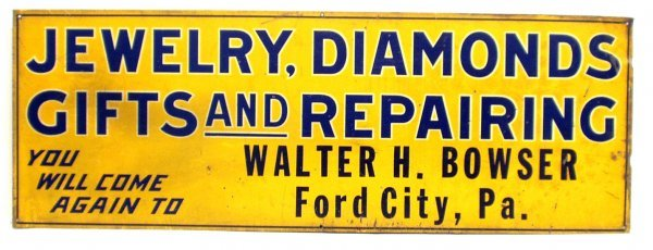 3: JEWELRY & DIAMOND TIN SIGN