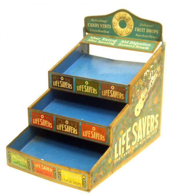 7: LIFE SAVER'S TIN COUNTER DISPLAY