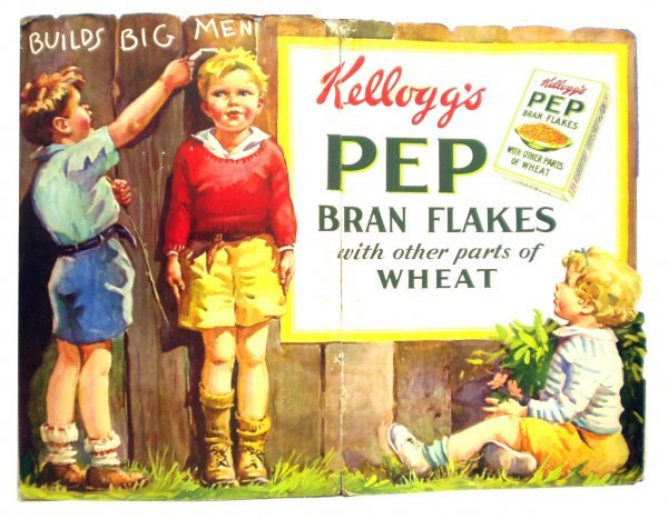 8: KELLOGGS PEP CEREAL DISPLAY