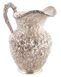 STIEFF STERLING REPOUSSE WATER PITCHER