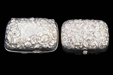 REPOUSSE STERLING SOAP BOXES (2)
