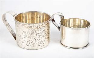 STERLING CUPS WITH HANDLES (2)