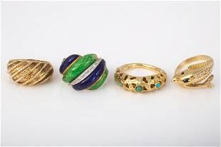 GOLD RINGS (4)