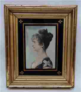 PASTEL PORTRAIT OF WOMAN- 19TH CENTURY