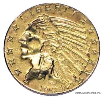 16: 1909 $5 DOLLAR GOLD COIN