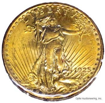 18: 1925 $20 ST. GAUDENS GOLD COIN
