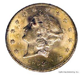 1903 $20 GOLD COIN