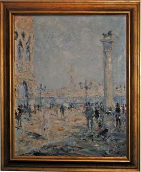 145: OTTO PIPPEL PLAZA PAINTING