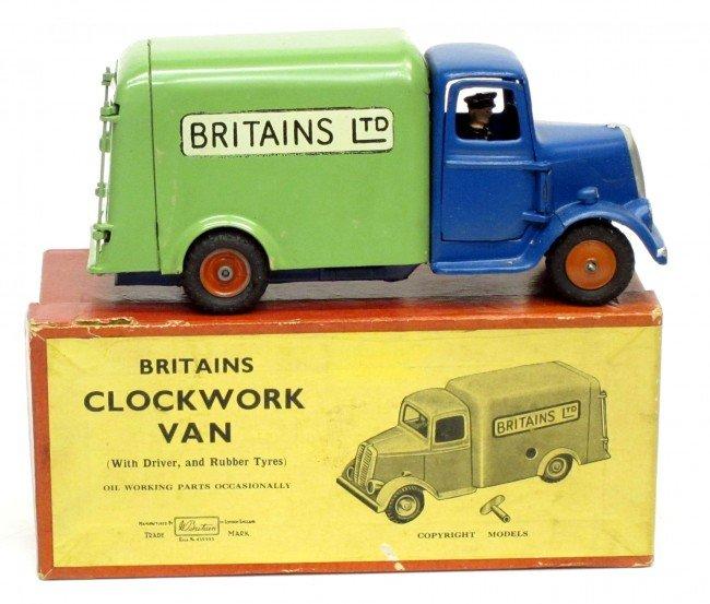 119: BRITAINS CLOCKWORK VAN with DRIVER #2045
