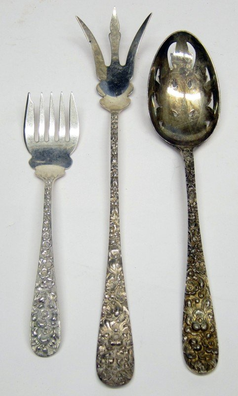 "13: STIEFF STERLING ""FORGET ME NOT"" FLATWARE"