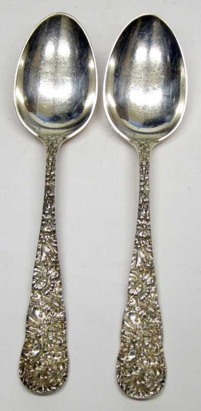 16: STIEFF STERLING SERVING SPOONS